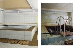 ТЕЦ-5 ремонт бассейна, укладка плитки